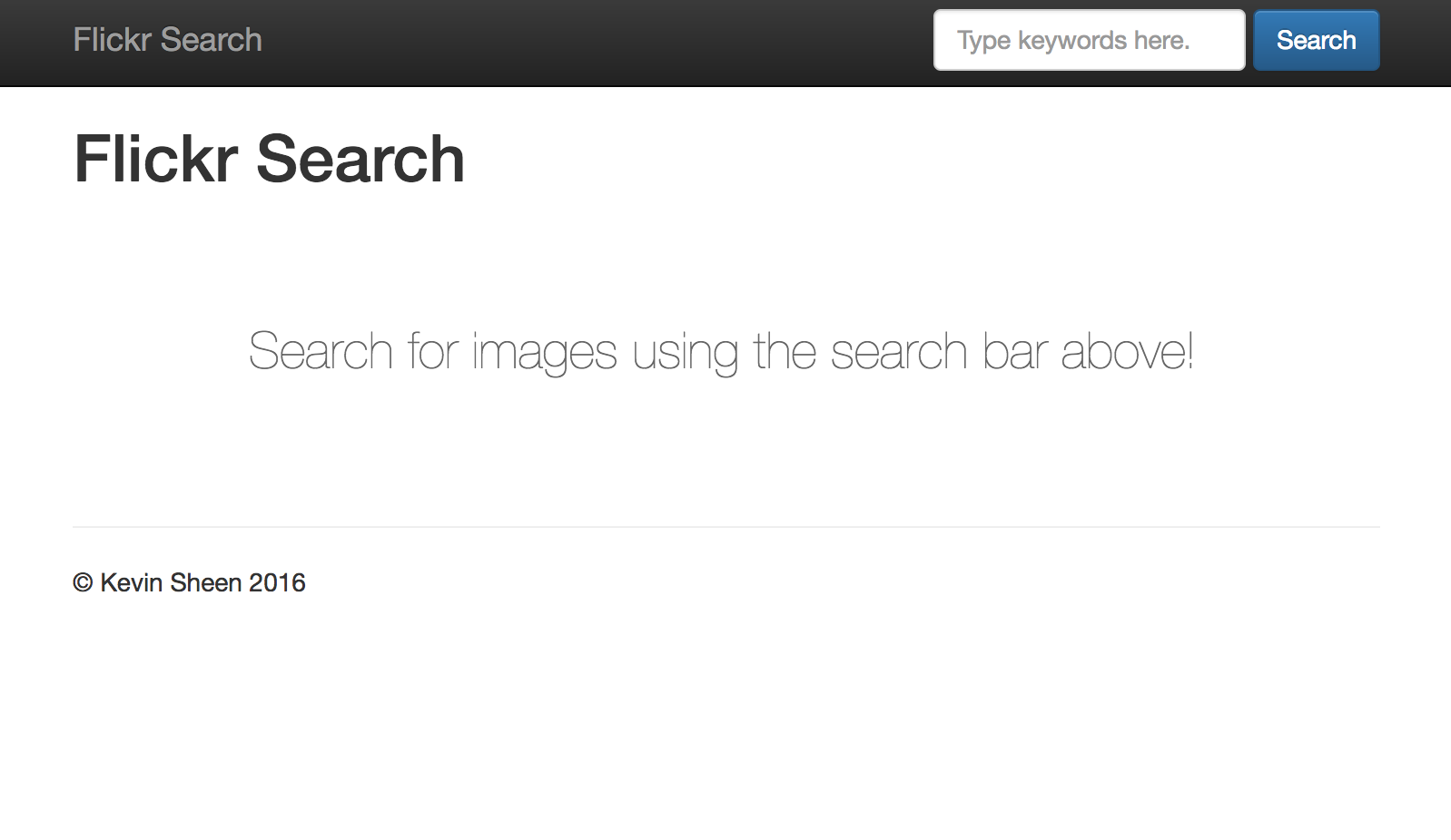 Flickr Search Page